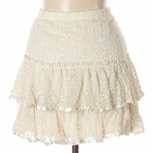 Hazel lace layer skirt sz Large 🦜